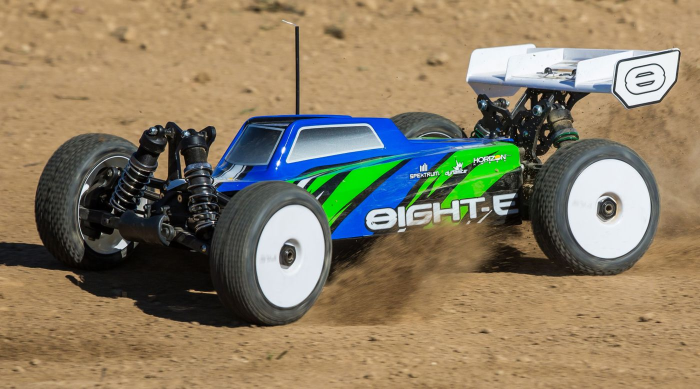 Image for 1/8 8IGHT-E 4WD Buggy Brushless RTR, Blue/Green from HorizonHobby