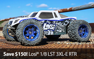 Save $150! Losi 1/8 LST 3XL-E RTR RC Monster Truck