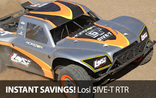 Save off the massive Losi 5IVE-T RTR in the Horizon Hobby Outlet