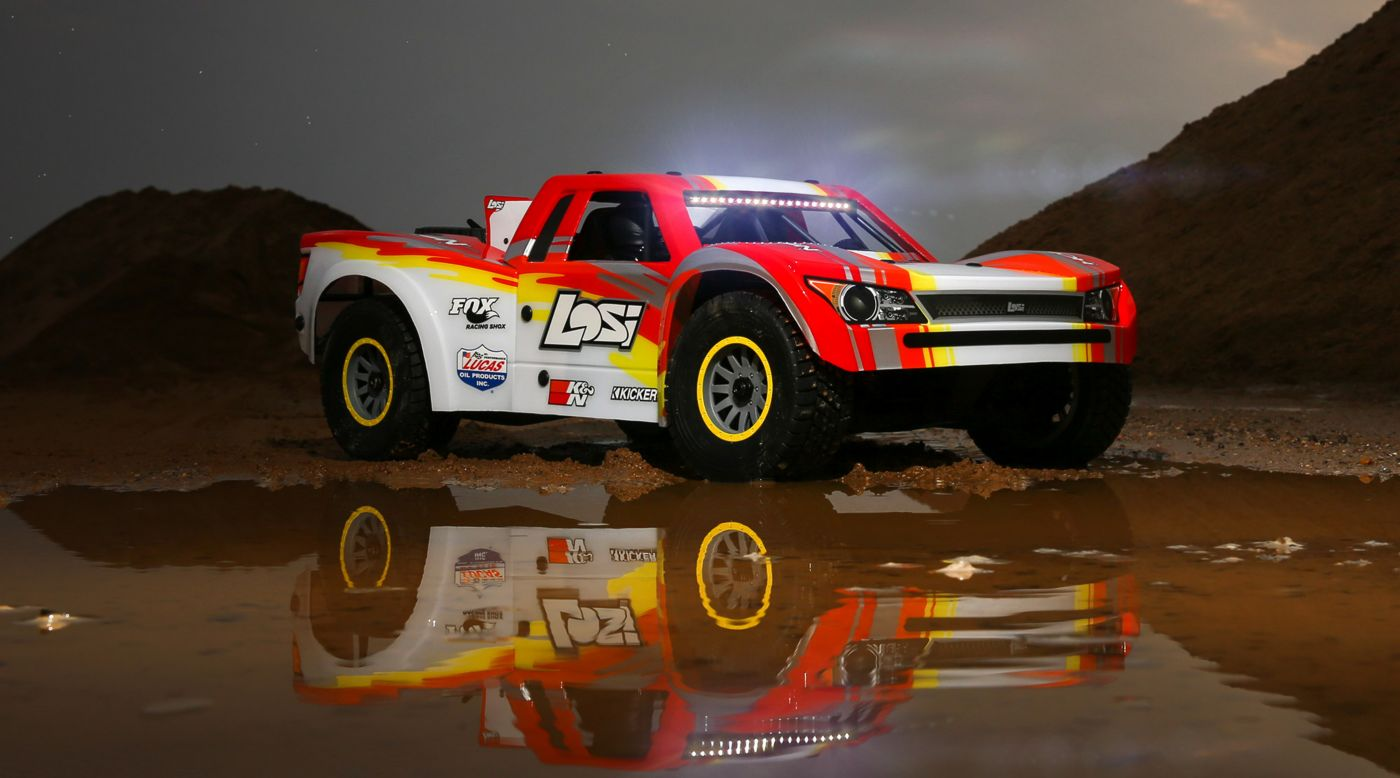 Image for 1/6 Super Baja Rey 4WD Desert Truck Brushless RTR with AVC, Red from HorizonHobby