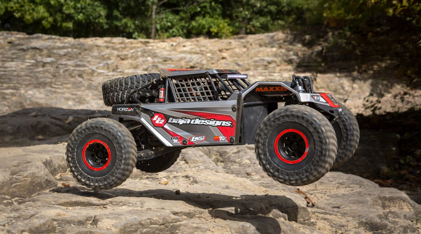 Image for 1/6 Super Rock Rey 4WD Brushless Rock Racer RTR with AVC, Baja Designs from HorizonHobby