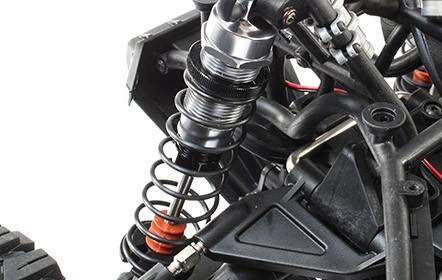 Coil-Over Oil Filled Shocks with Pre-Load adjustment