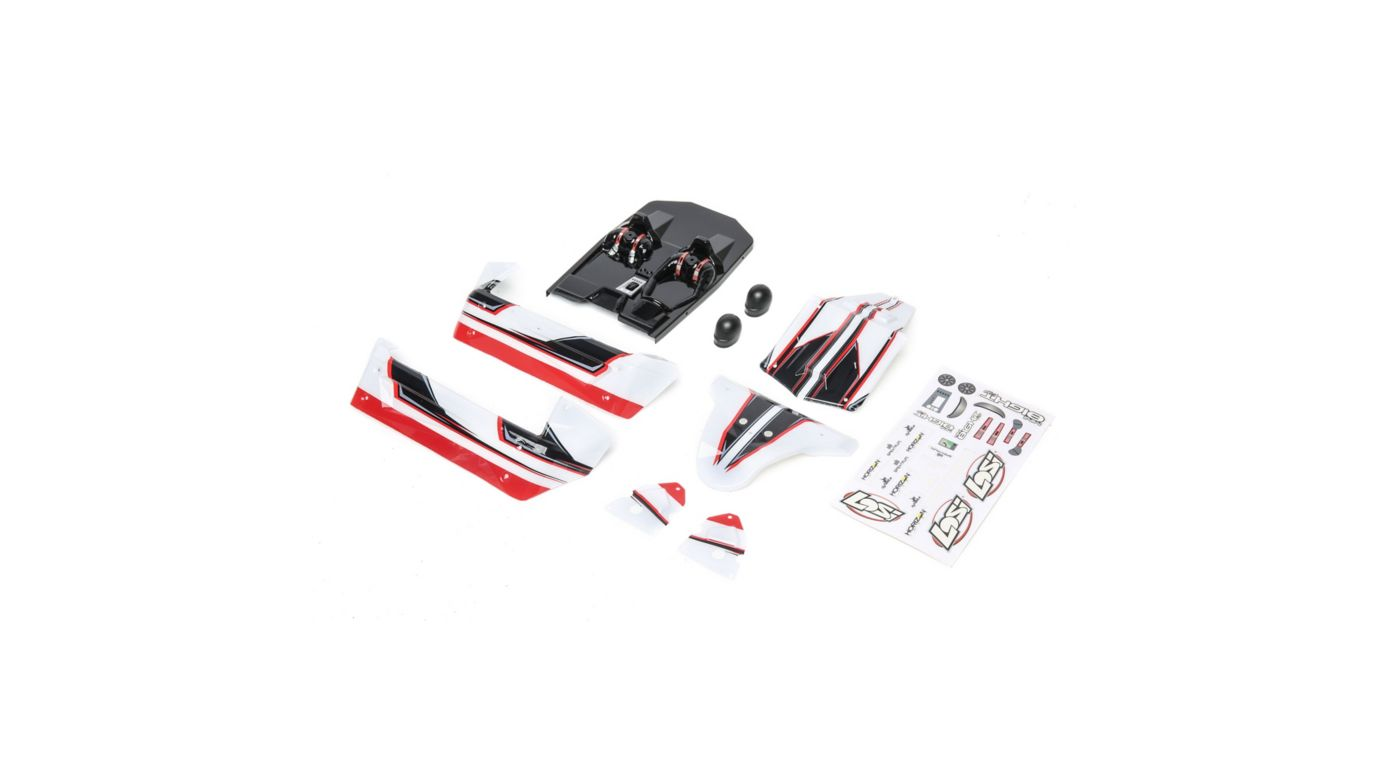Image for Body Set White/Red: Mini 8IGHT-DB from HorizonHobby