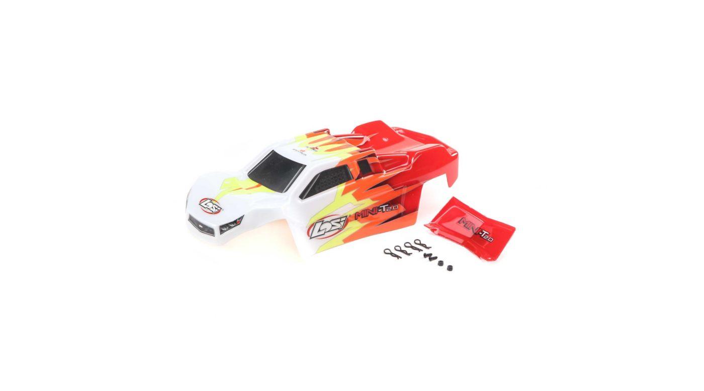Image for Body, Red/White: Mini-T 2.0 from HorizonHobby