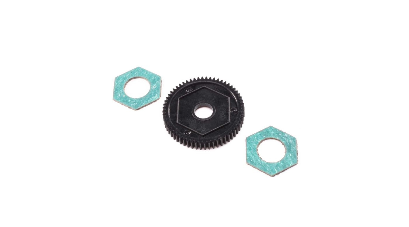 Image for Spur Gear with Slipper Pads, 60T 0.5M: Mini-T 2.0 from HorizonHobby