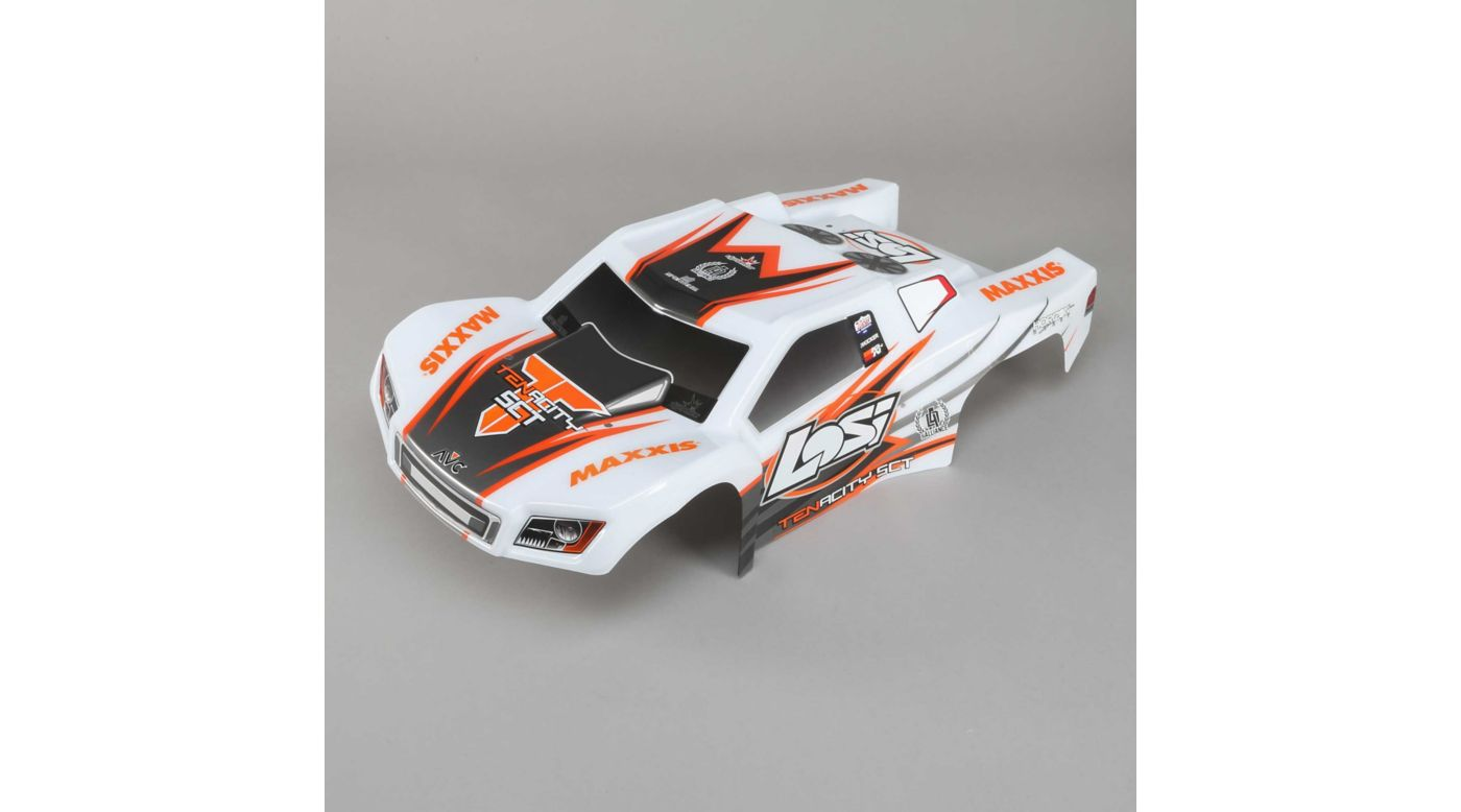 Image for Body Set, Painted, White and Orange: TENACITY SCT from HorizonHobby