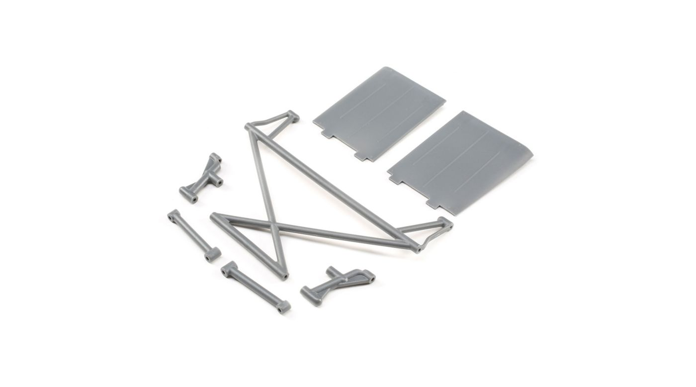 Image for Rear Tower Support, X-Bar, Mud Guards, Gray: Rock Rey from HorizonHobby