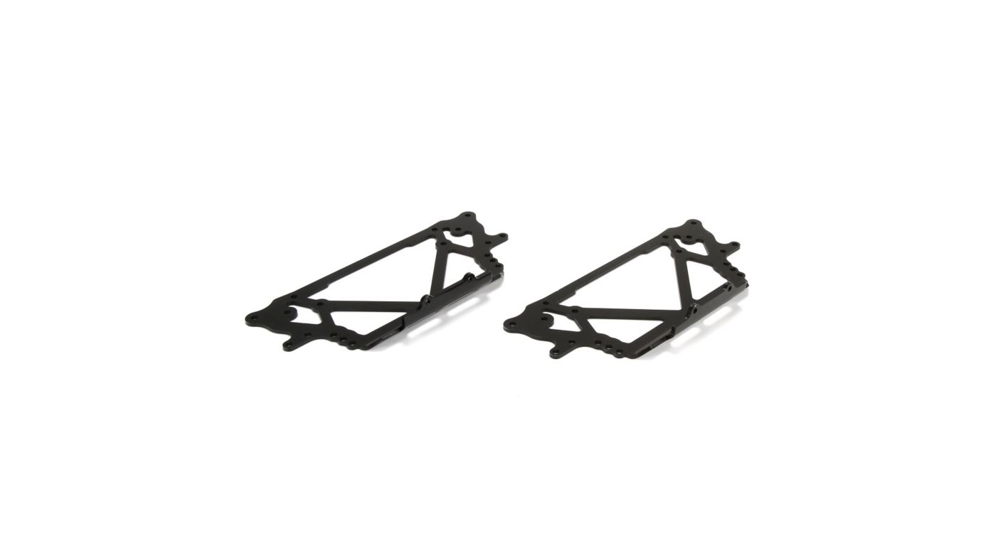 Image for Side Plate Set, Chassis, Black: NCR2.0, NCR SE from HorizonHobby