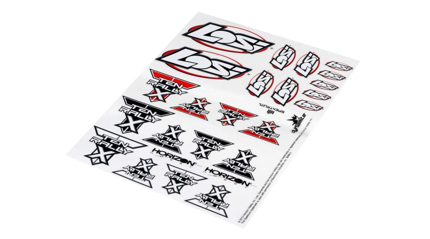 Image for Sticker Sheet: Ten Rally-X from HorizonHobby