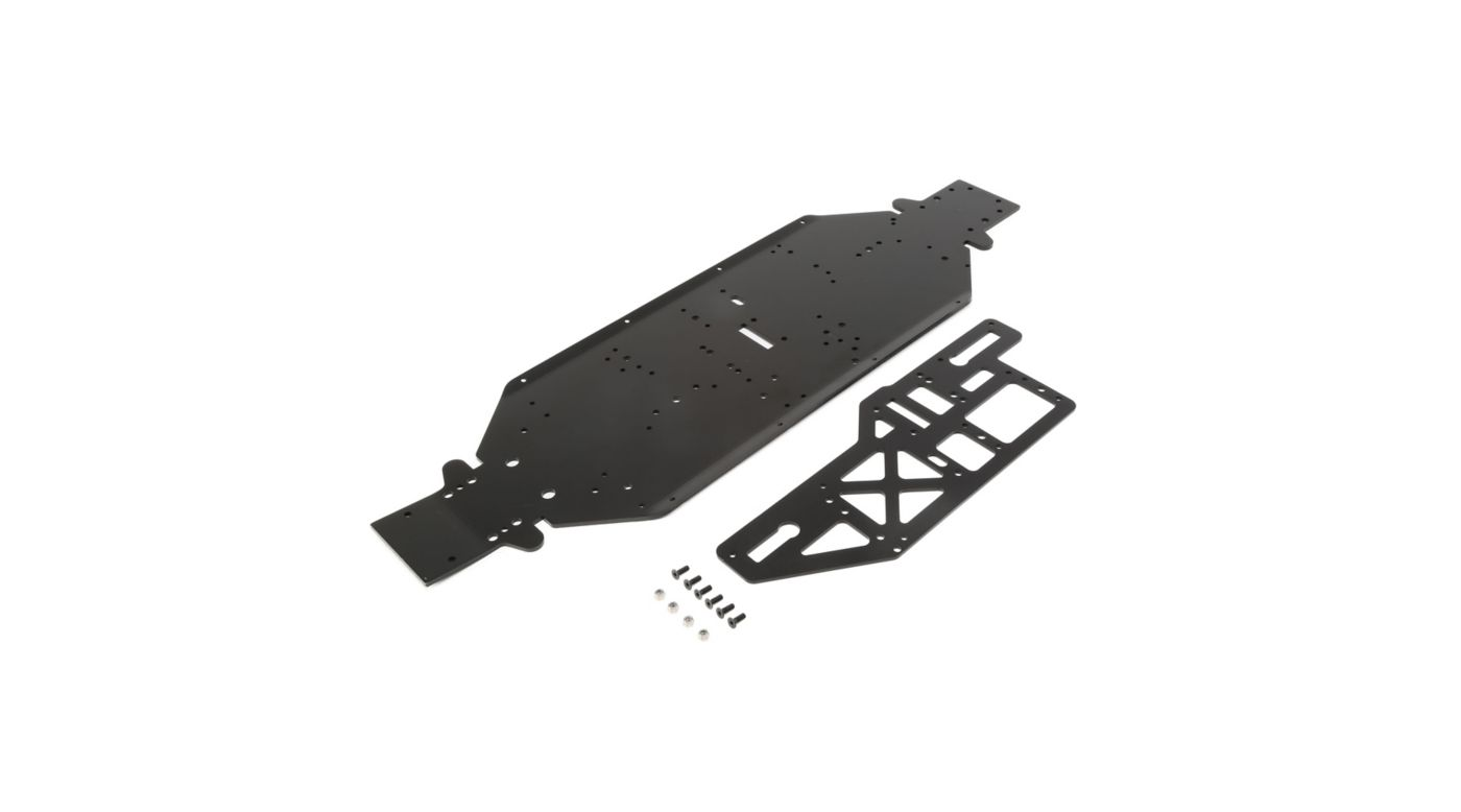 Image for Chassis w Brace plate 4mm Black  DBXL-E from HorizonHobby