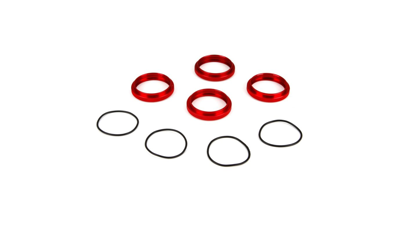 Image for Shock Adjuster Nut w/O-Ring, Aluminum: 1/5 4WD DBXL from HorizonHobby