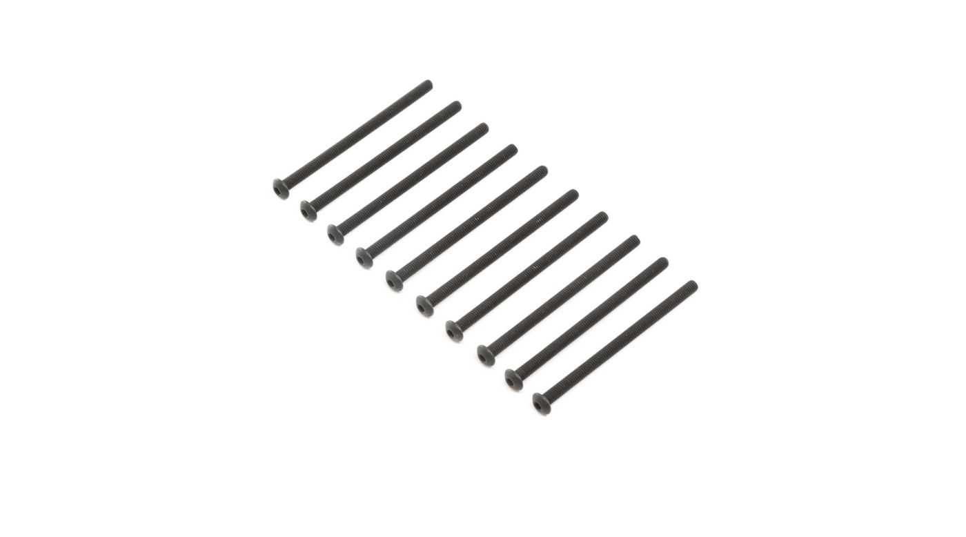 Image for Button Head Screws, Steel, Black Oxide, M4 x 65mm (10) from HorizonHobby
