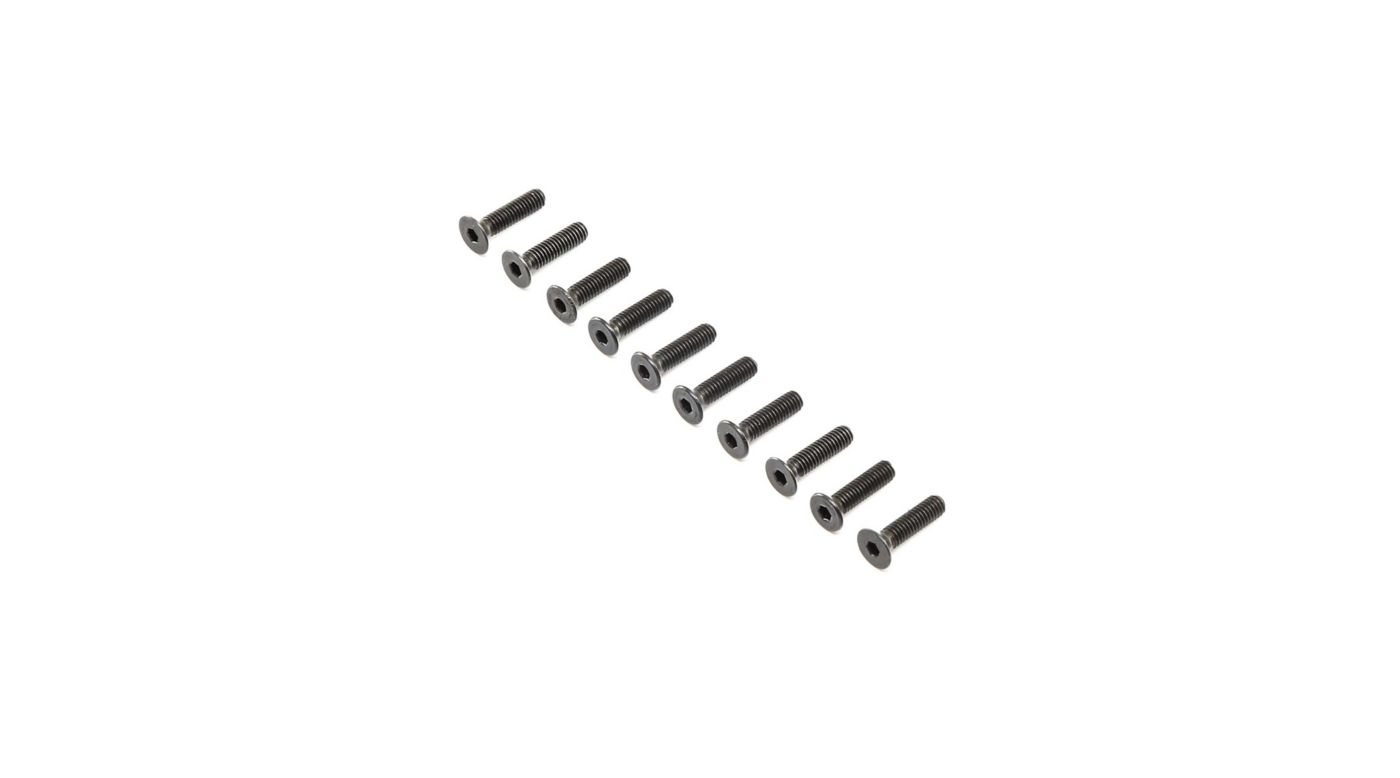Image for Flat Head Screws, Steel, Black Oxide, M4 x 16mm (10) from Horizon Hobby