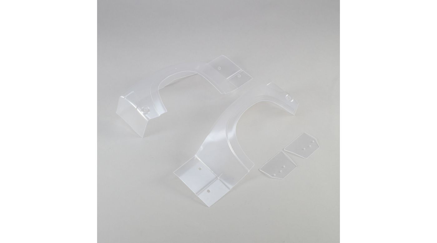 Image for Left and Right Rear Fender Set, Clear: Super Baja Rey from HorizonHobby