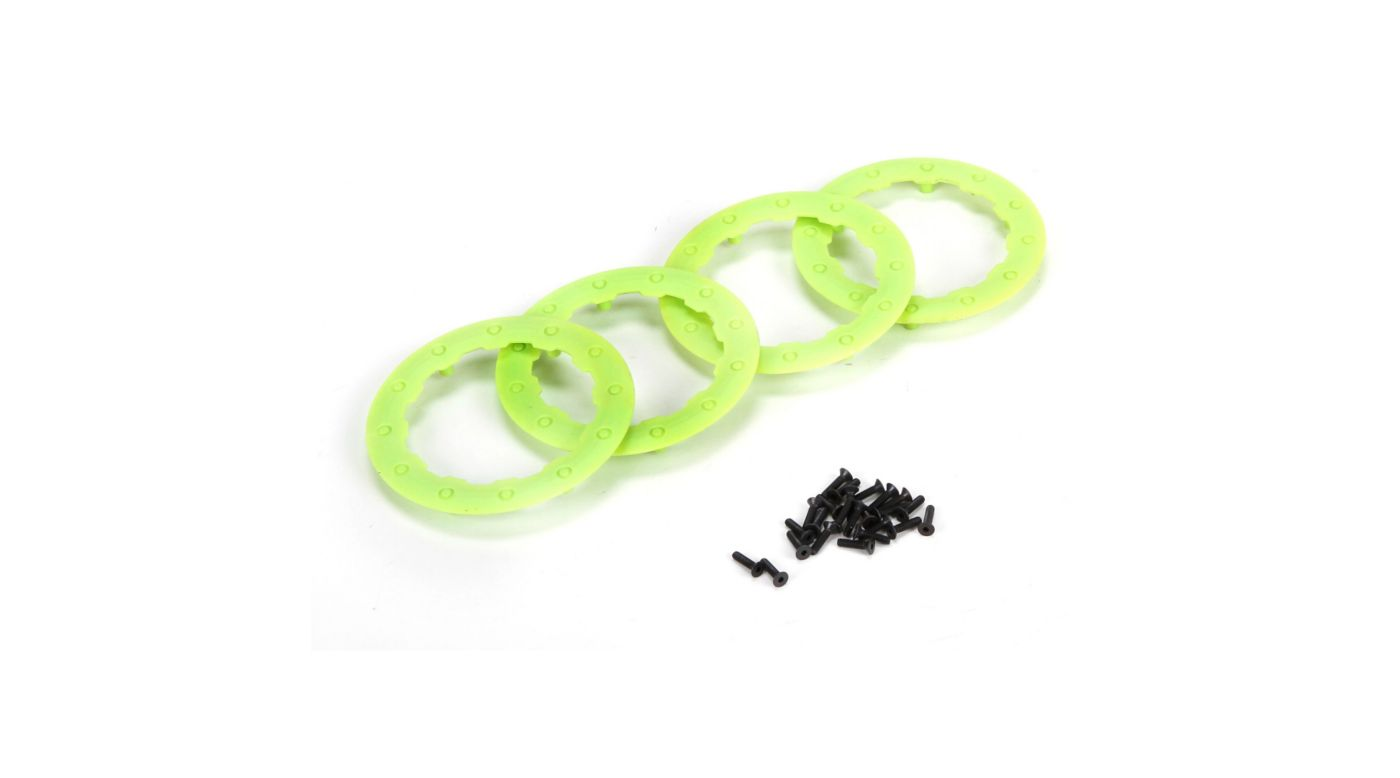 Image for Beadlock Ring, Green with Screws (4): 22SCT from HorizonHobby