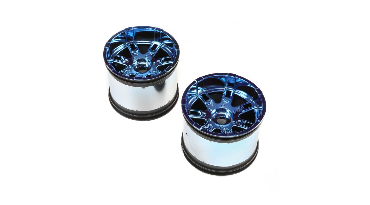 Image for Wheel 17mm Blue Chrome (2): LST 3XL-E from HorizonHobby