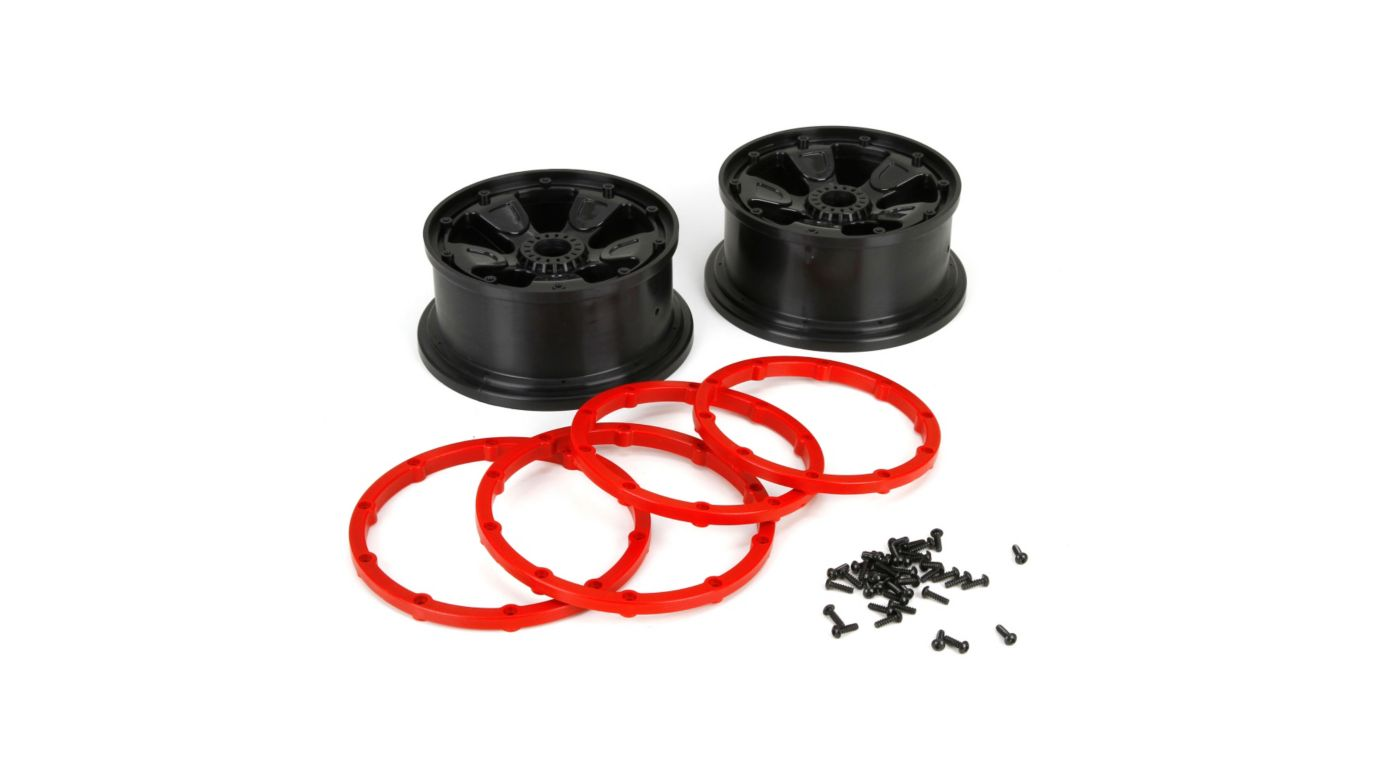 Image for 1/5 Front/Rear 4.75 Pre-Mounted Tires, 24mm Hex, Black (2): DB XL from HorizonHobby