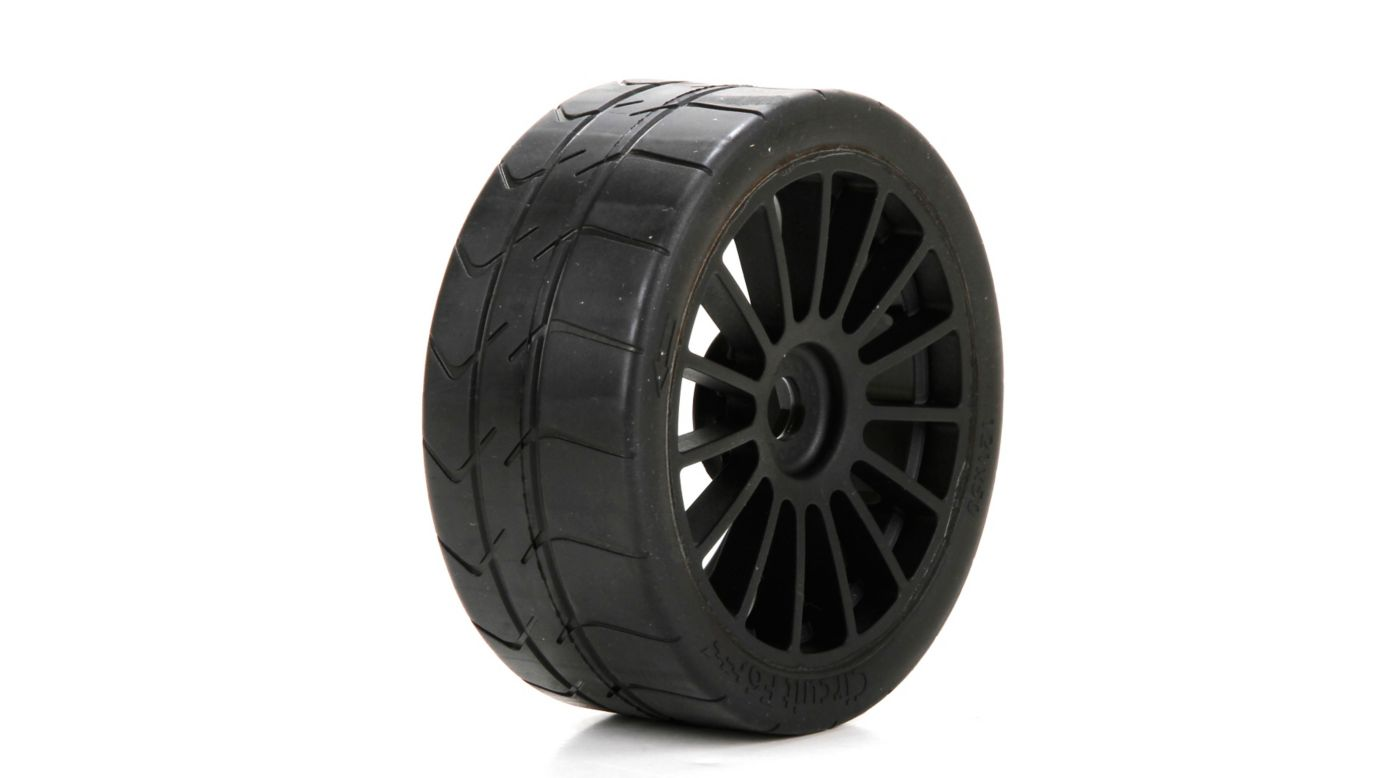 Image for Long Wear Tire, Black Wheel, Mounted (2): 6IX from HorizonHobby
