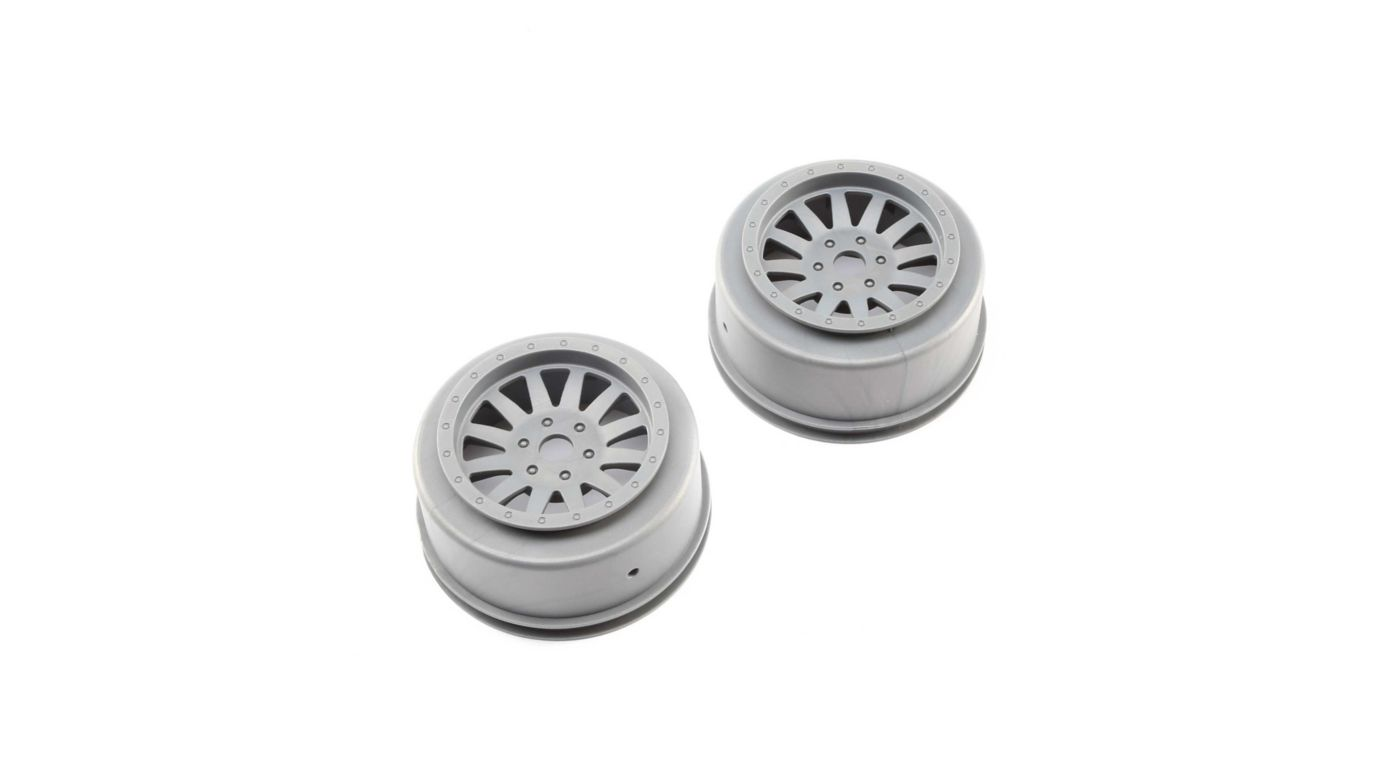 Image for Wheels, Silver (2): Super Baja Rey from HorizonHobby