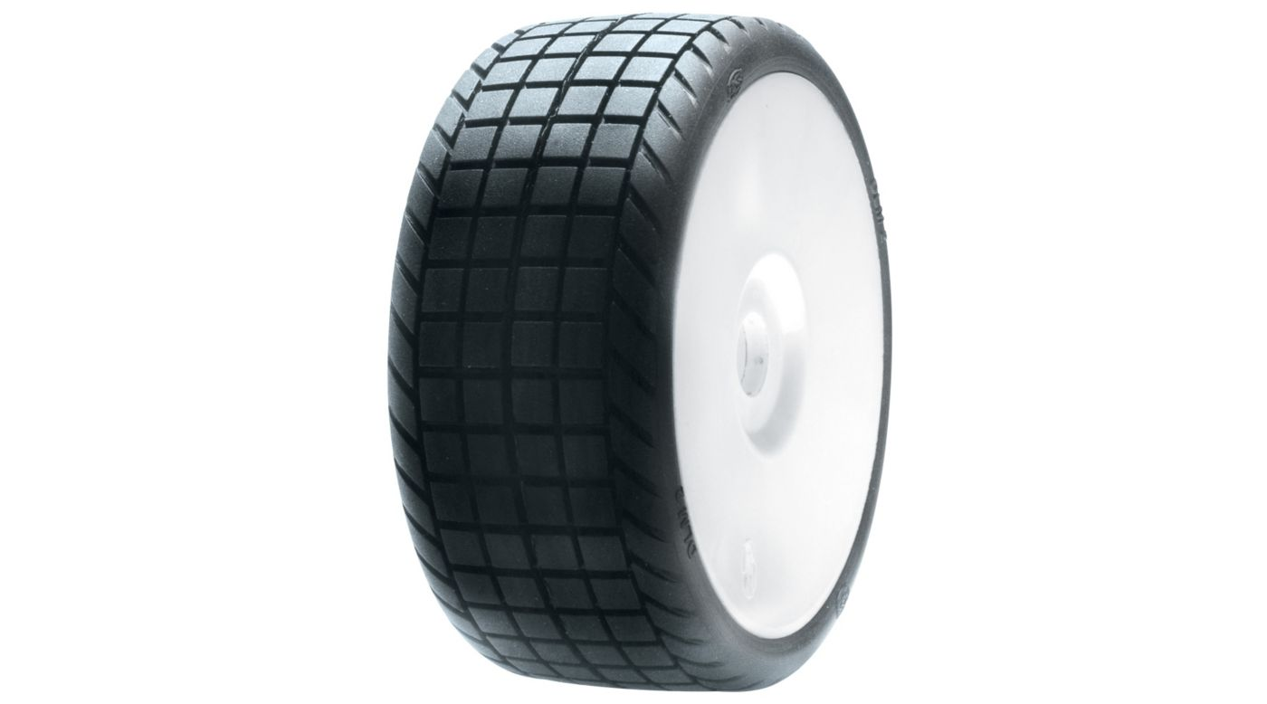 Image for 1/8 DLM2 Tires, Mounted with White Wheel (2) from HorizonHobby