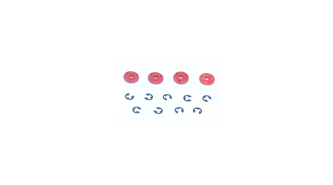 Image for Shock Pistons #56, Red (4) from HorizonHobby