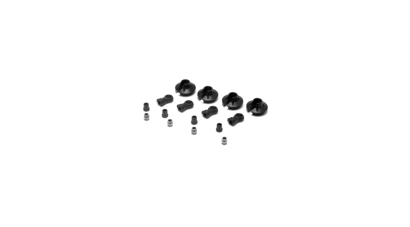 Image for 15mm Shock Ends, Cups, Bushing: 8B 2.0 from Horizon Hobby