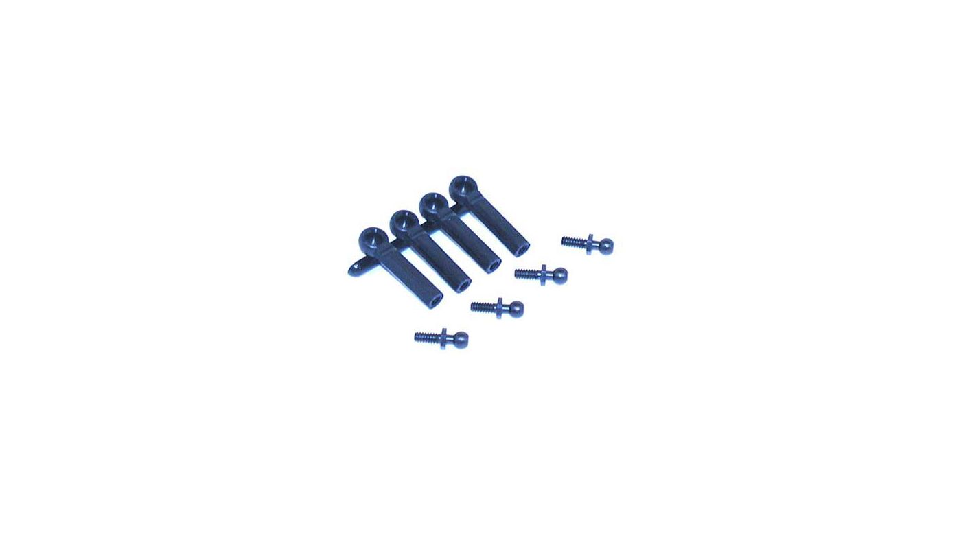 Image for Ball Studs w/Ends, 4-40 x 1/4 from HorizonHobby