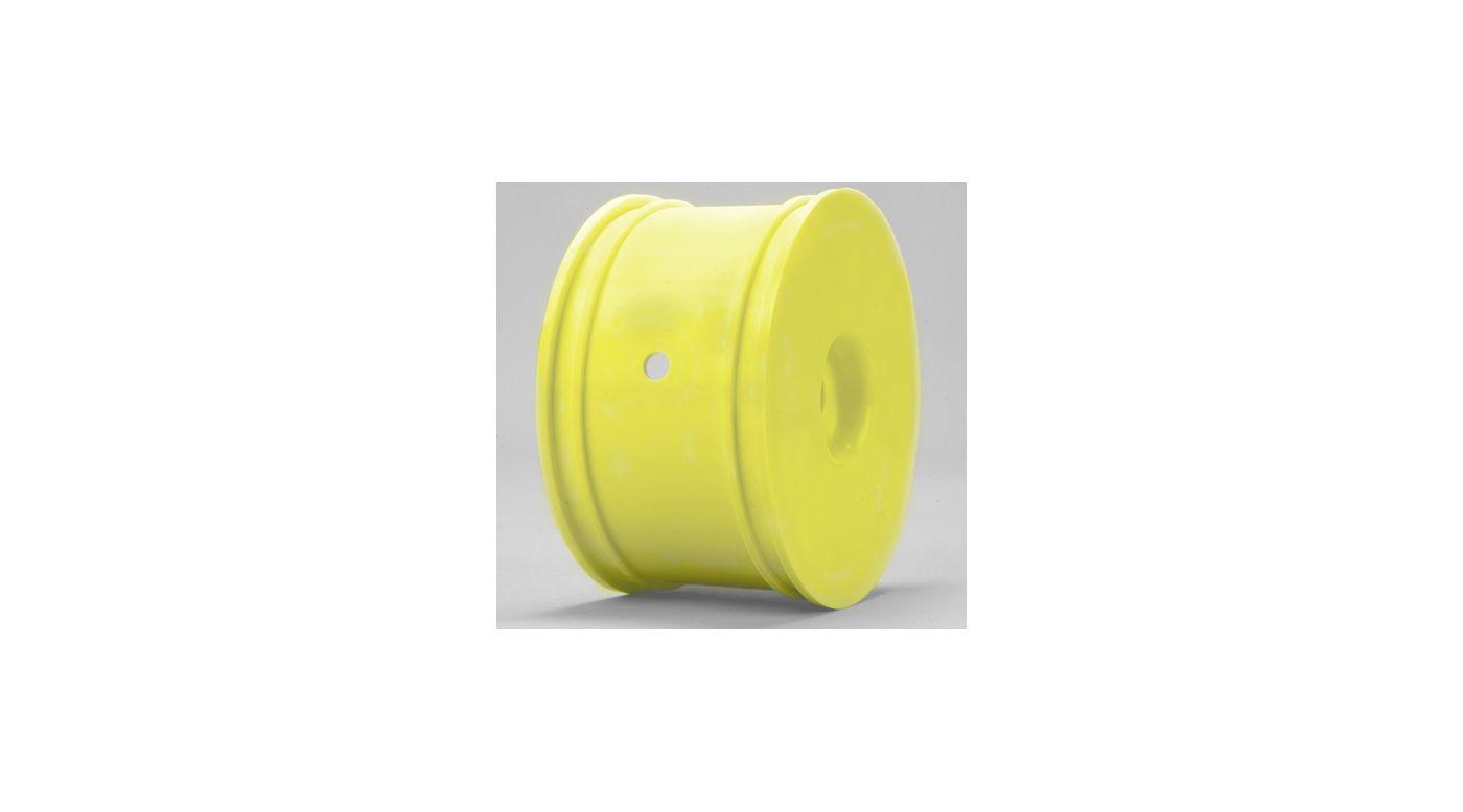 Image for Truggy Wheels, Zero Offset, Yellow (4): 8T 2.0 from HorizonHobby