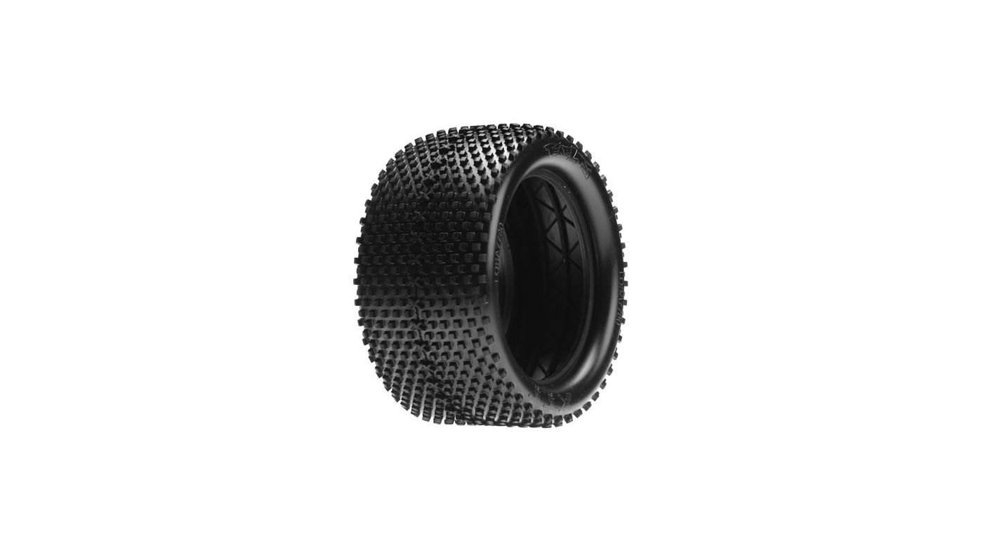 Image for 1/8 Truggy-XTT Tires, Blue with Foam: 8T (2) from HorizonHobby
