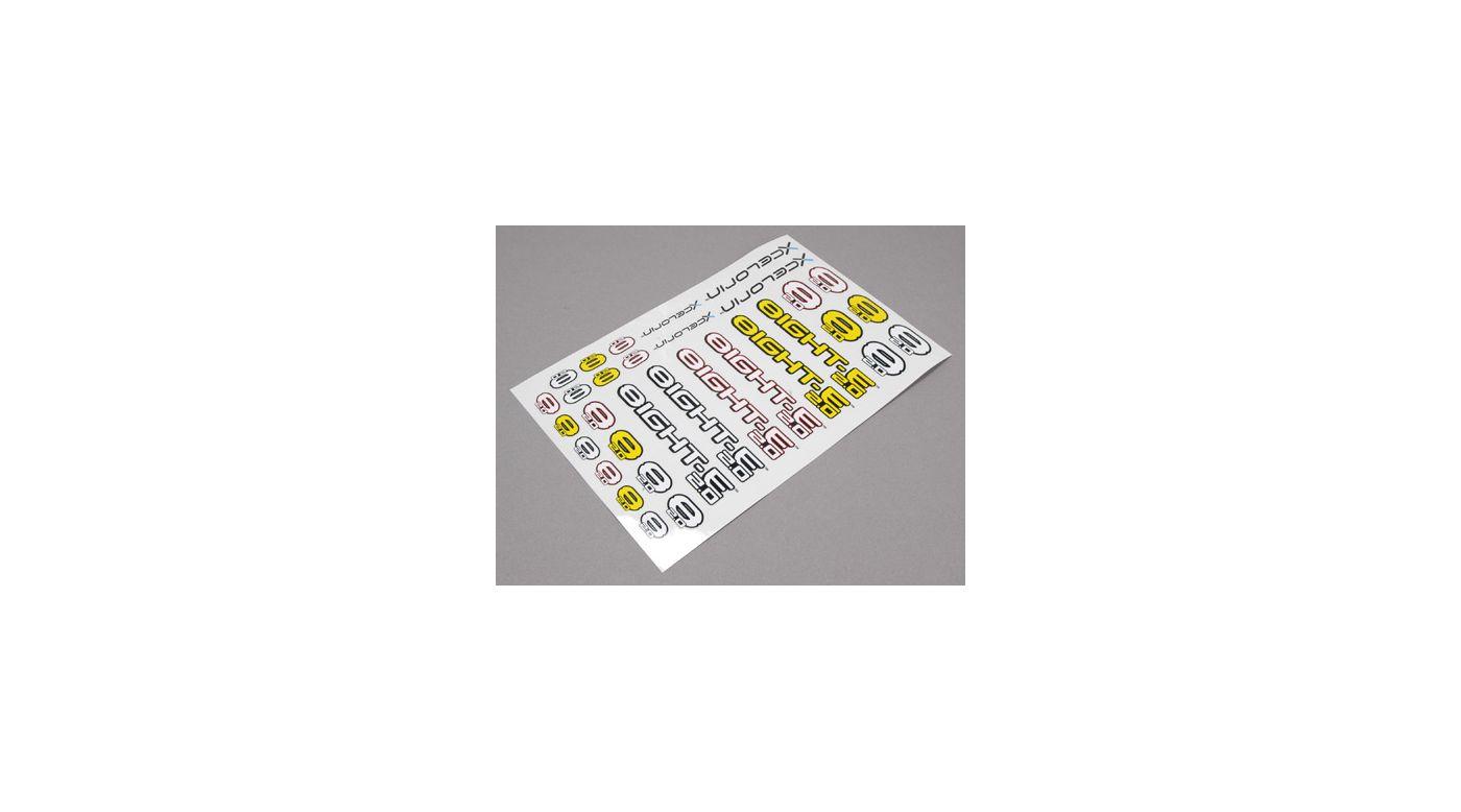 Image for 8IGHT-E 2.0 Logo Sticker Sheet from HorizonHobby