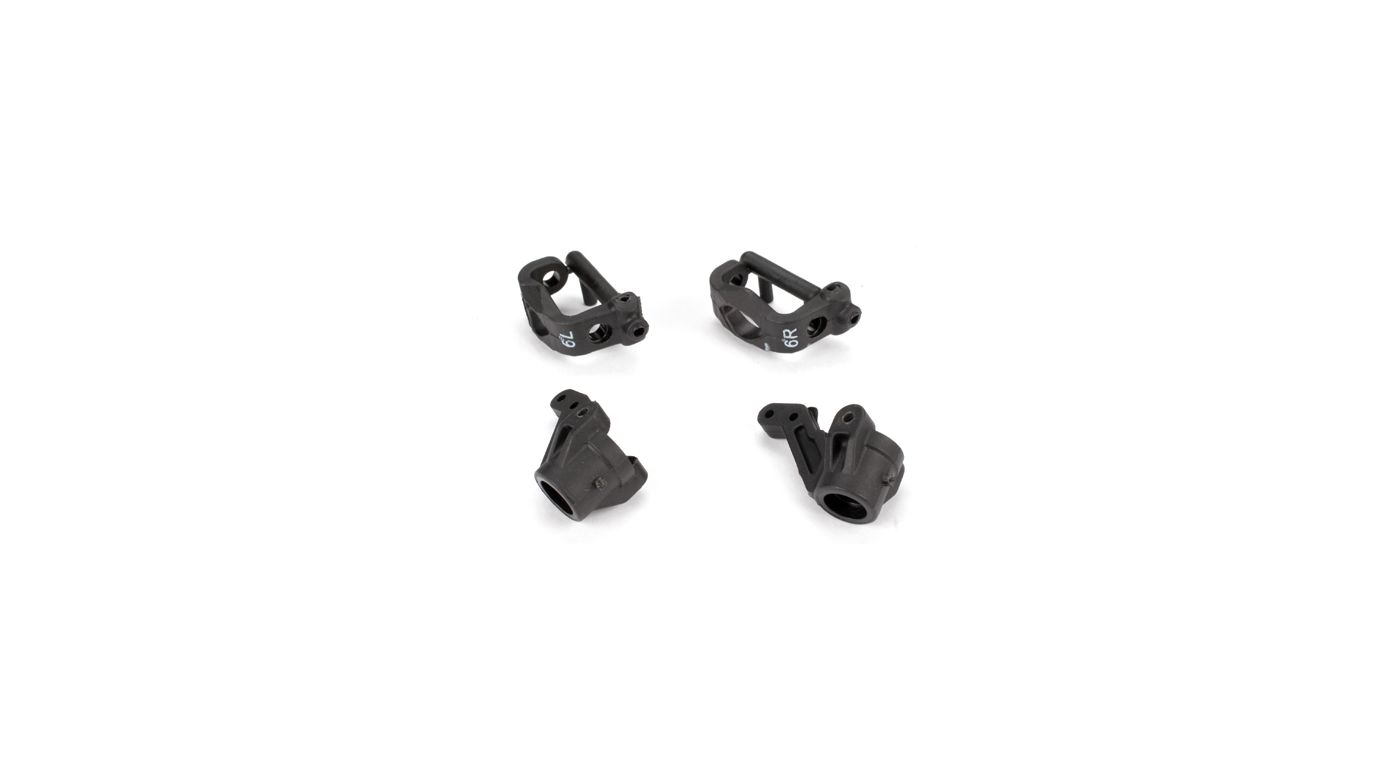 Image for Front Spindles & Carriers 6-Deg, EA3: all X-S from HorizonHobby