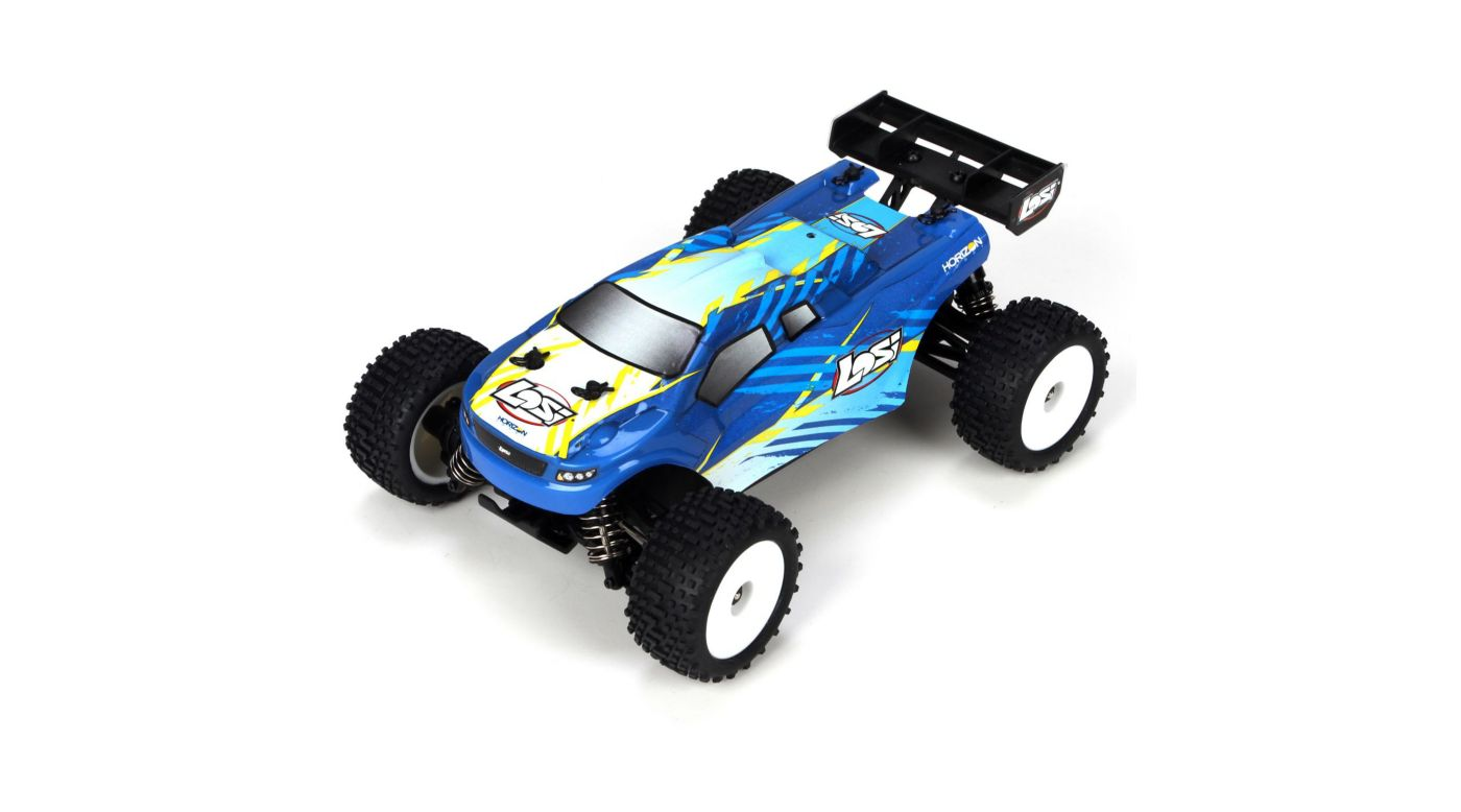 losi 1 24 4wd micro rc truggy rtr blue horizon hobby. Black Bedroom Furniture Sets. Home Design Ideas