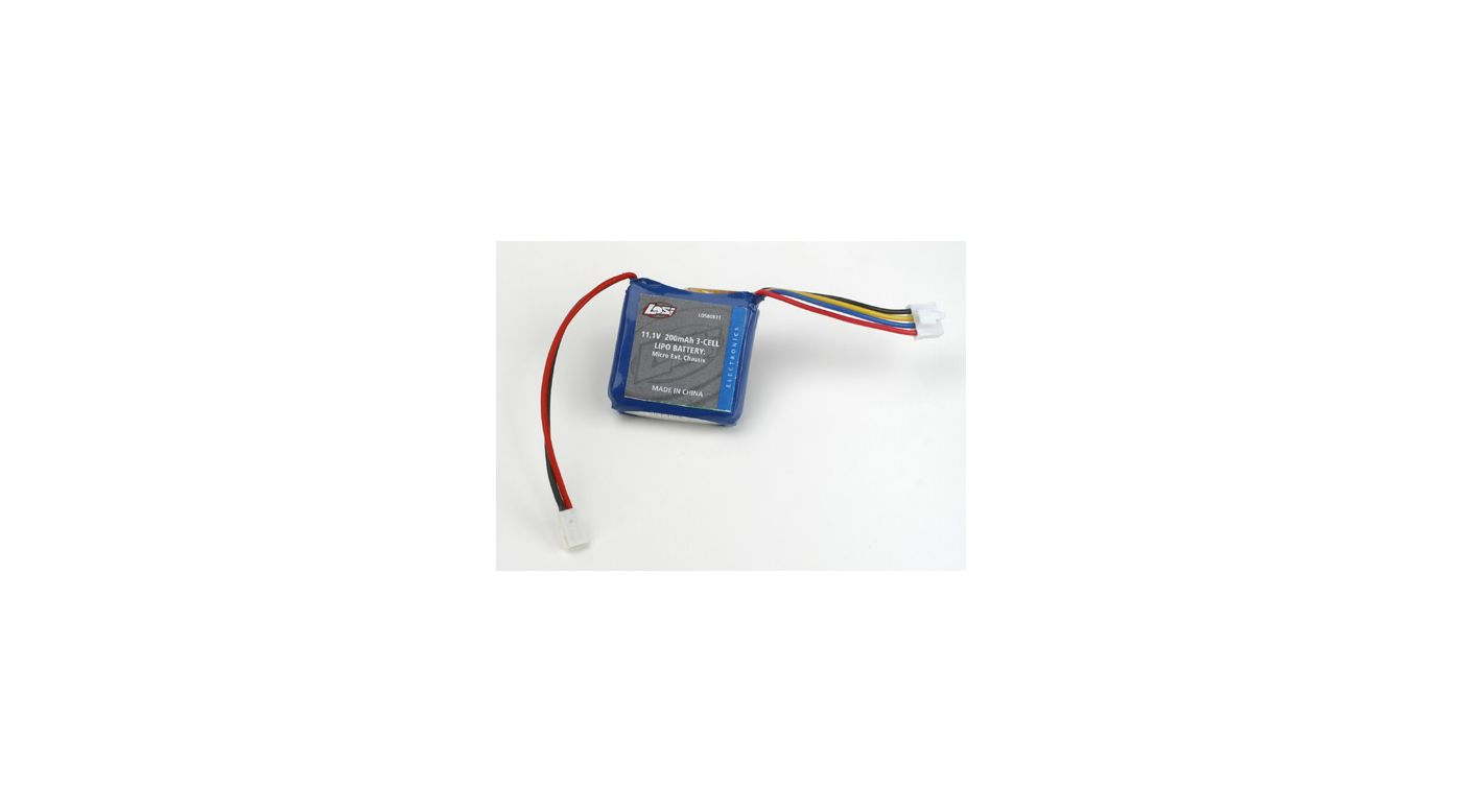 Image for 11.1V 200mAh 3S 15C LiPo: Micro-DT from HorizonHobby