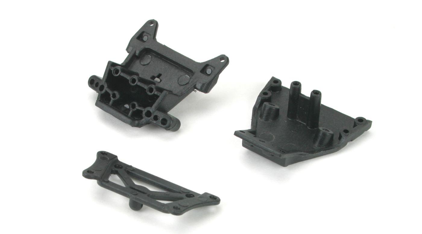 Image for Front Bulkhead/Kickplate/Brace Set: Mini-T, MDT from HorizonHobby