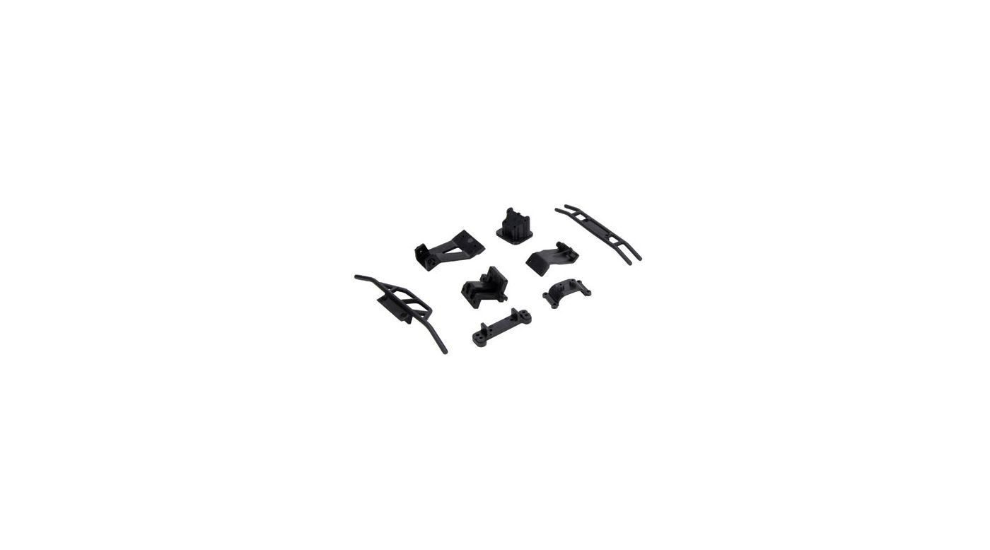 Image for Front/Rear Bumper and Mount/Support Set: MHRL from HorizonHobby