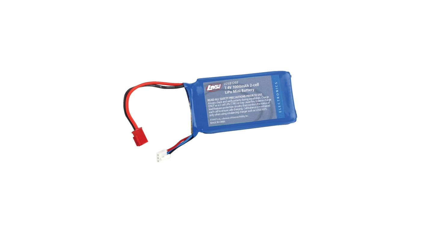 Image for 7.4V 1000mAh 2S LiPo: Mini 1/18 Vehicles from HorizonHobby