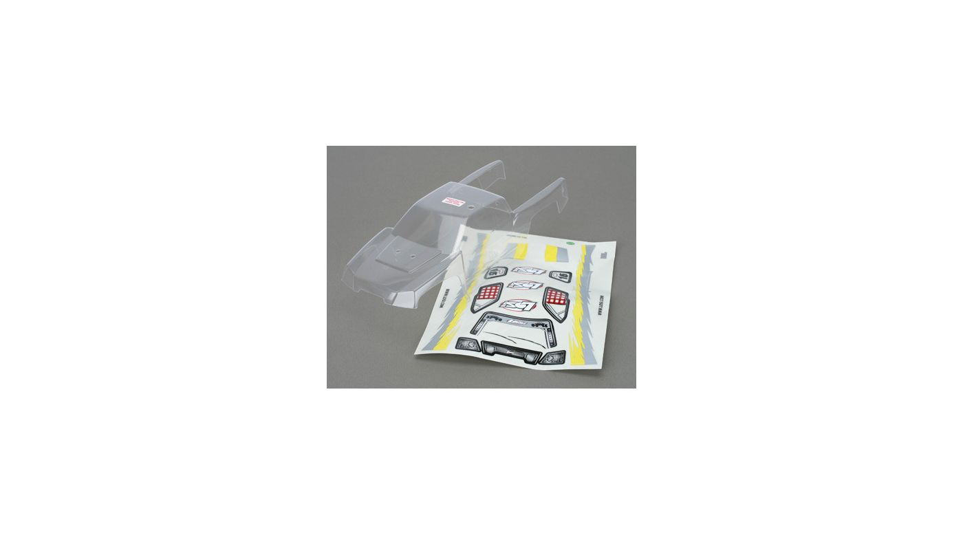 Image for Mini-DT Body, Clear with Sticker Sheet & Masks from HorizonHobby