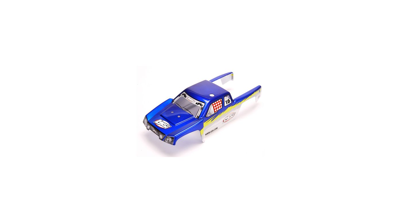 Image for Mini-Desert Truck Painted Body, Blue with Stickers from HorizonHobby