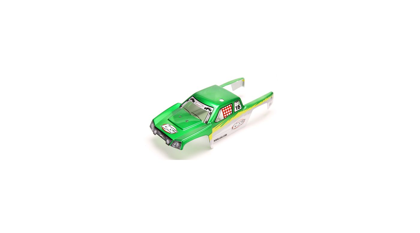 Image for Mini-DT Painted Body, Green with Stickers from HorizonHobby