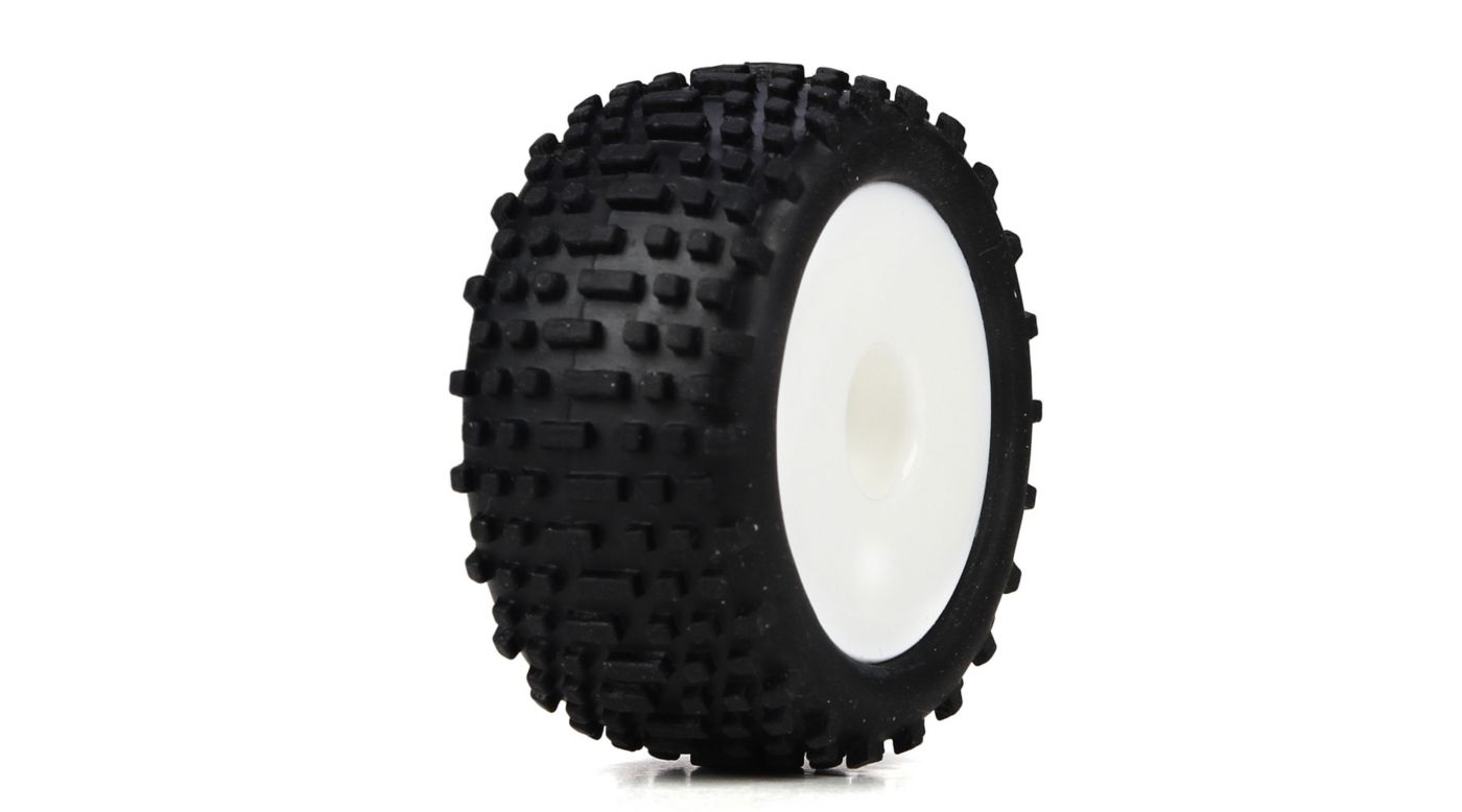 Image for Wheel & Tire Set, White: Micro Truggy from HorizonHobby