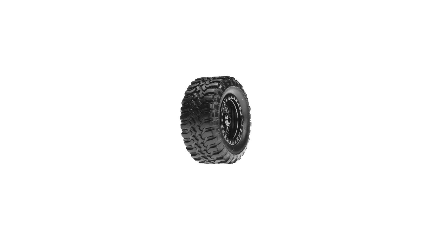 Image for Desert Tire Set Mounted, Black Chrome (4):Micro DT from HorizonHobby