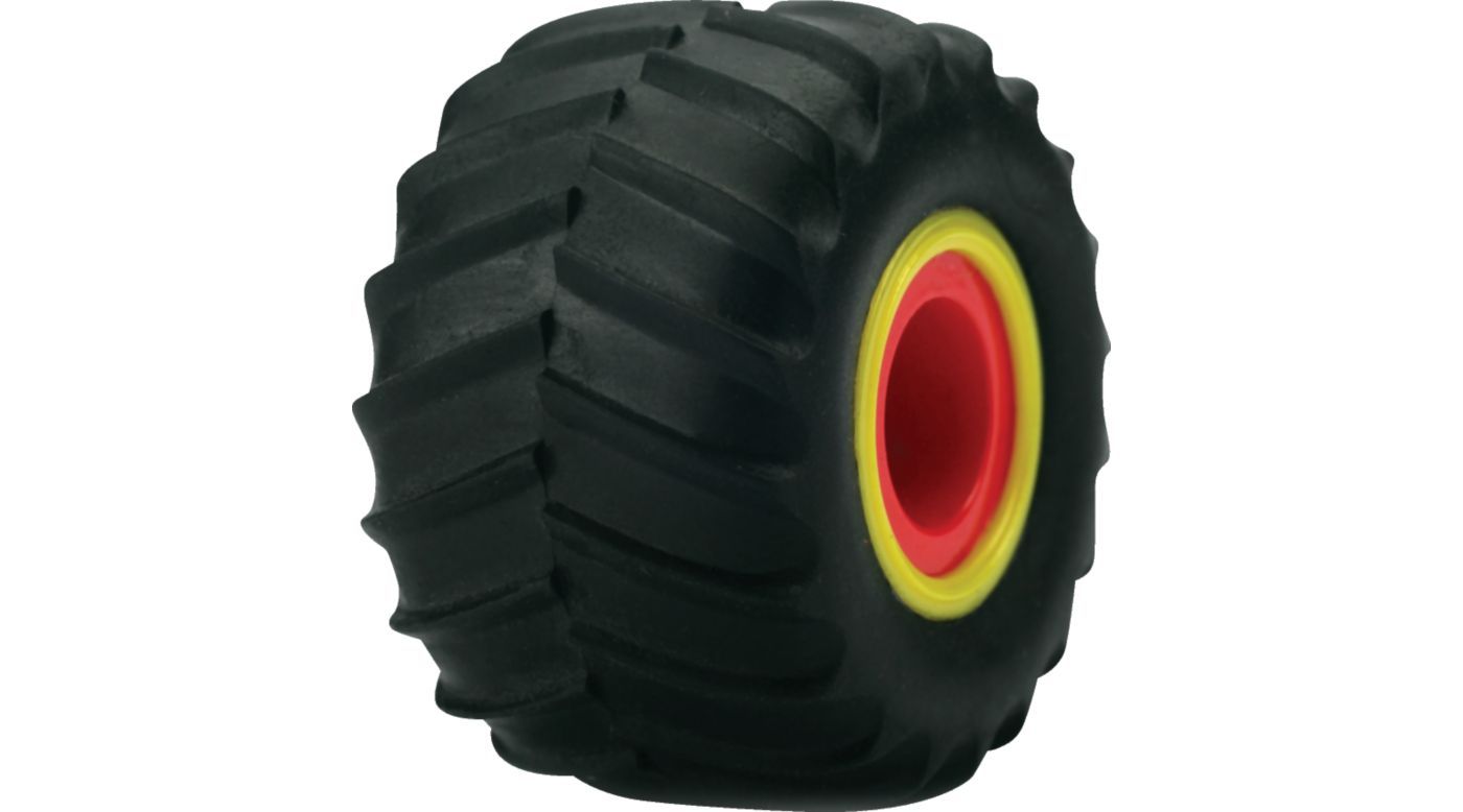 Image for Fr/R Tire & Wheel Set, Mounted(4): Micro Raminator from HorizonHobby