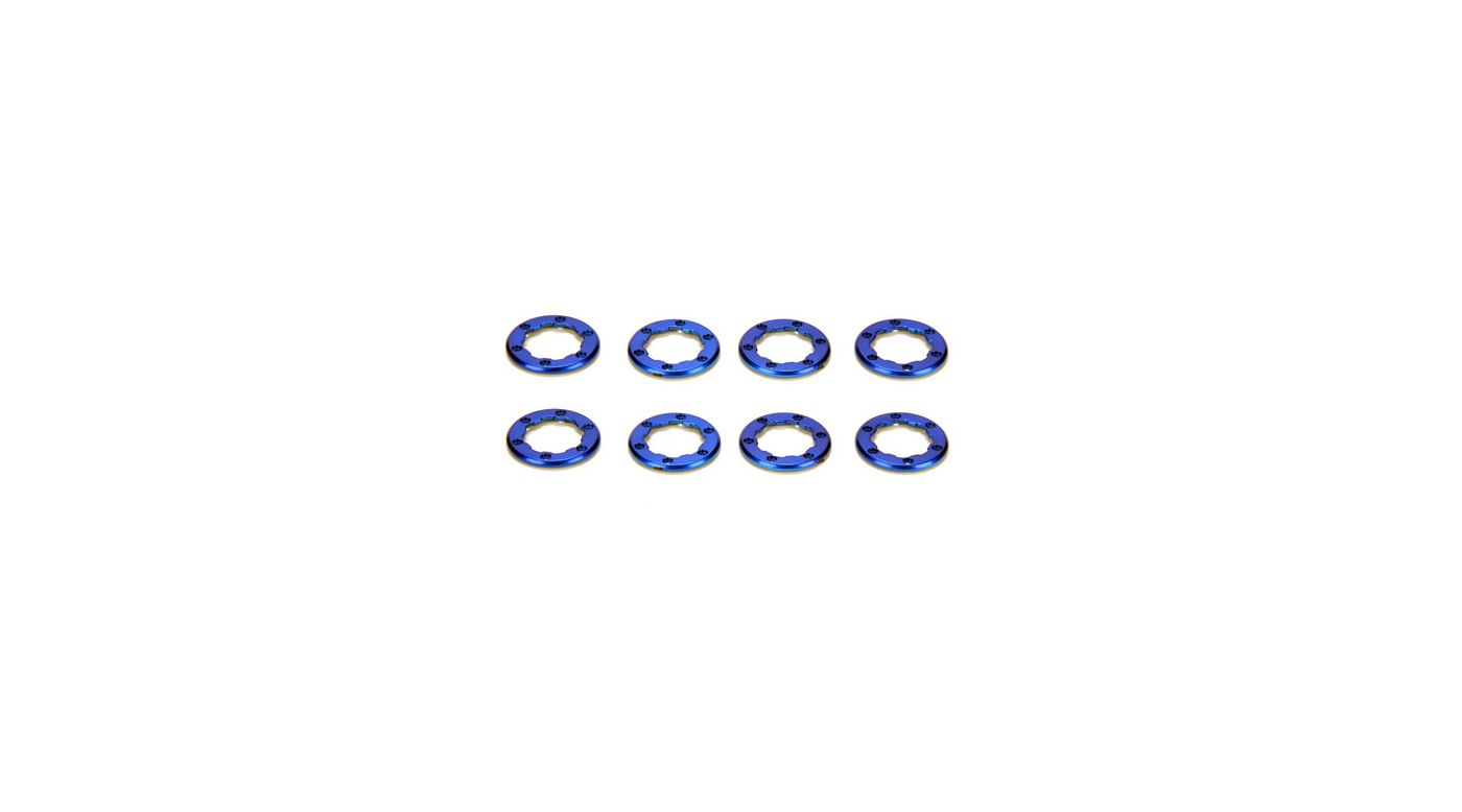 Image for Wheels Rings, Blue (8): McRC from HorizonHobby