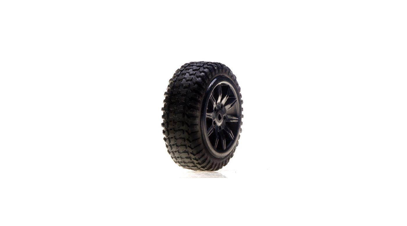 Image for Tires, Mounted, Black: Micro Rally(4) from HorizonHobby