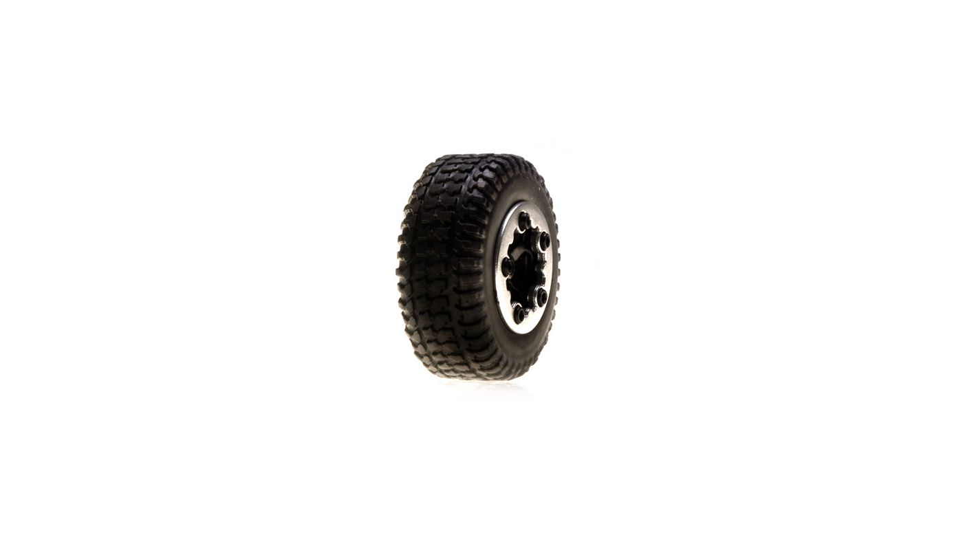 Image for Tires, Mounted, Black: Micro SCT(4) from HorizonHobby