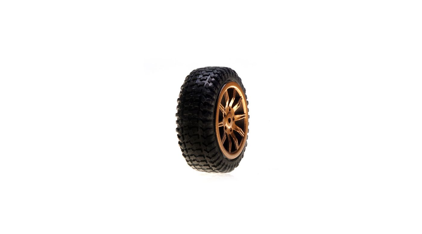 Image for Tires, Mounted, Gold: Micro Rally(4) from HorizonHobby
