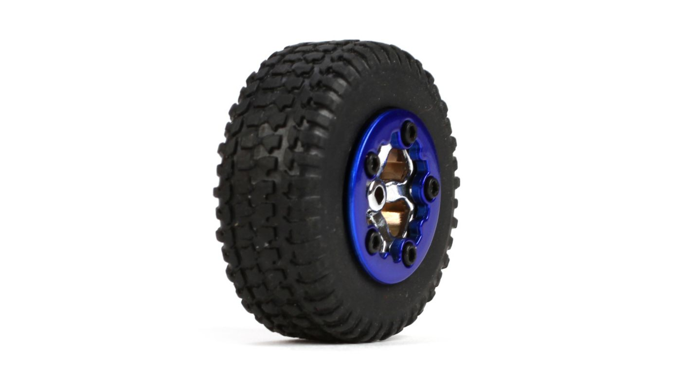 Image for Tires, Mounted, Blue (4): Micro SCT from HorizonHobby