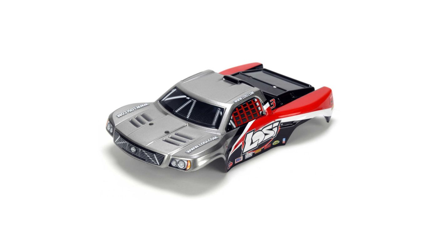 Image for 1/24 4WD Micro SCT Painted Body, Silver & Red from HorizonHobby
