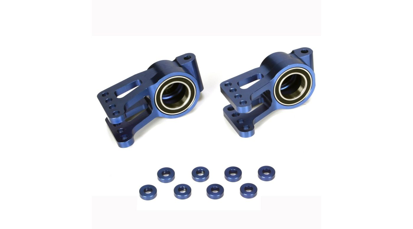 Image for Alum Rear Hub Set with BB (2), Blue: 5IVE-T, MINI WRC from HorizonHobby