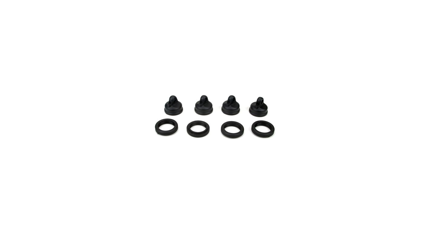 Image for Shock Adjuster Nut & Cap (4): LST2, AFT, XXL2 from HorizonHobby